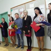 Mokinių sveikinimas mokytojams
