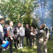 Mošos archeologinį draustinį pristatė Aukštadvario regioninio parko direktorius Vaclovas Plegevičius.